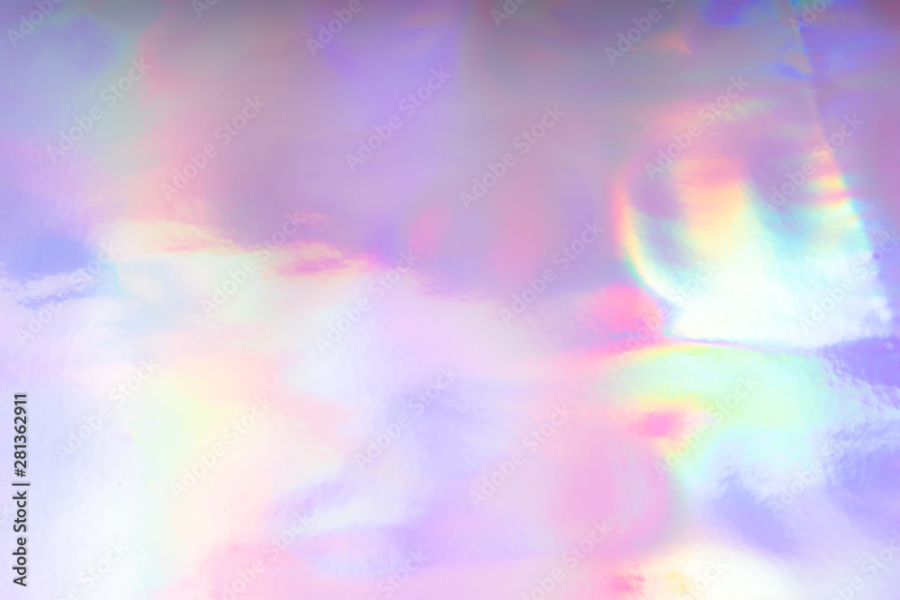 Fototapety, obrazy: Colorful funky fantasy abstract holographic background.