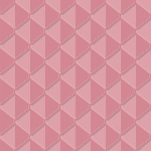 Red Diamonds Cascaded On Top Of Each Other. Pastel Geometric Tiles Stacked Side By Side. Connected Triangles. Vector Seamless Illustration. Endless Pattern.