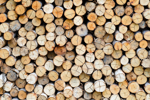 Photo sur Aluminium Texture de bois de chauffage wall firewood - stacked of firewood prepare for the fireplace, barbecue, Background and texture