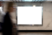 Mock Up Lightbox In Underpass....
