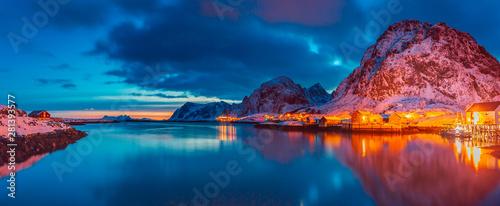 Sorvagen village on Lofoten Islands