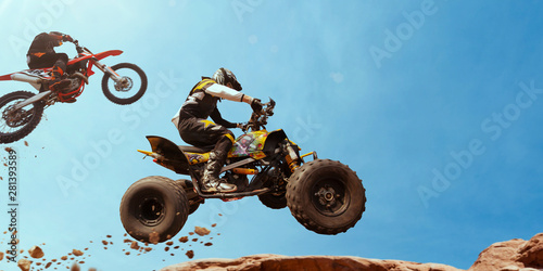 ATV Rider in the action wit...