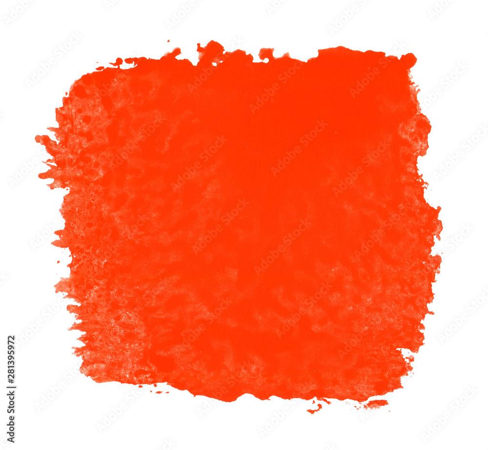 Fototapeta Rote handgemalte Farbfläche als Hintergrund