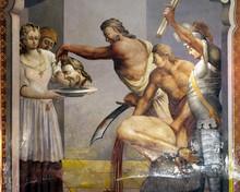 Beheading Of St John The Baptist, Fresco On The Ceiling Of The Saint John The Baptist Church In Zagreb, Croatia