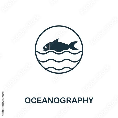 Fototapeta Oceanography vector icon symbol