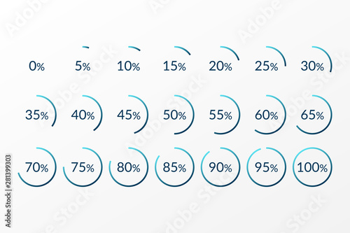 Valokuvatapetti Percentage vector infographics