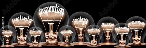 Obraz Light Bulbs Concept - fototapety do salonu