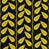Kwiatowy wzór z pionowych gałęzi i liści. Streszczenie wektor złoto dla tkaniny, tapety, pudełko, karty z pozdrowieniami, projektowanie stron internetowych. - 281410176