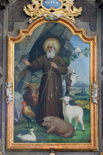 Canvas Prints Dragons Altar of the Saint Anthony the Great in the Church of the Assumption of the Virgin Mary in Klostar Ivanic, Croatia
