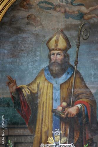 Obraz na plátně  Saint Nichollas, altarpiece on the main altar in the church of the Saint Nichola