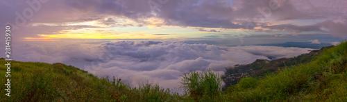 Montage in der Fensternische Lavendel Beautiful panoramic view of Phu Tubberk, Thailand