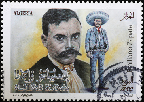 Mexican revolutionary Emiliano Zapata on postage stamp Fototapet