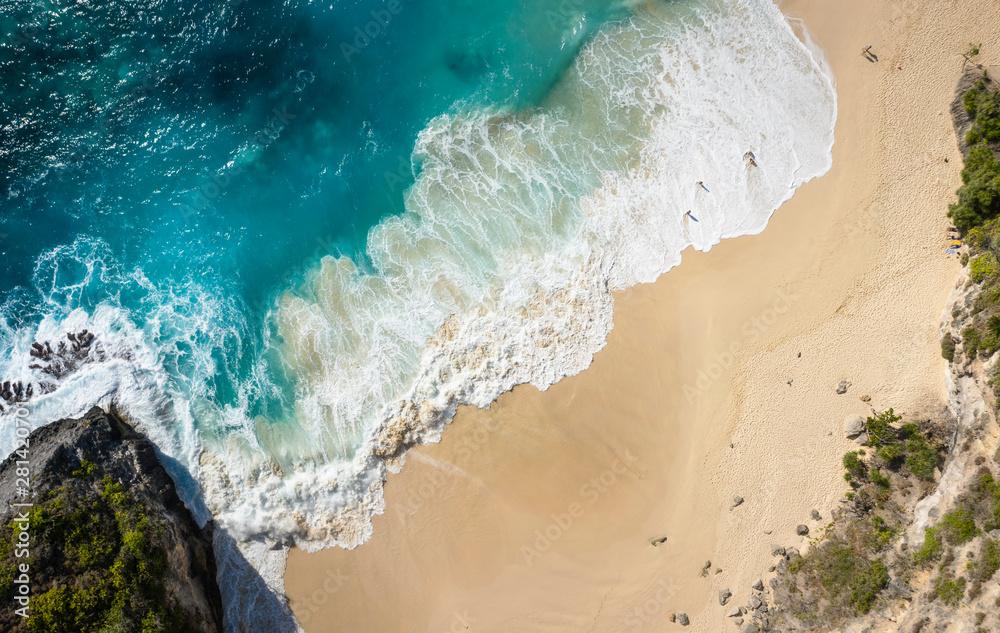 Fototapety, obrazy: Top View Of Kelingking Beach at Nusa Penida, Bali - Indonesia