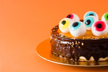 Halloween cake with candy e...