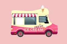 Classic Summer Ice Cream Van I...