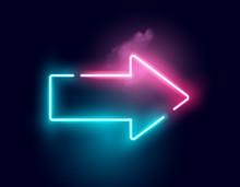 A Glowing Directional Arrow Ne...