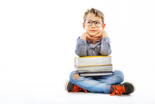 Preschooler With Books Ready F...