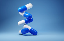 A Stack Of Antibiotic Pill Cap...