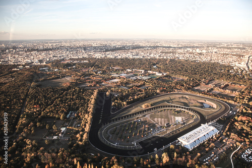 Fotografie, Obraz  Vue aérienne de la banlieue parisienne