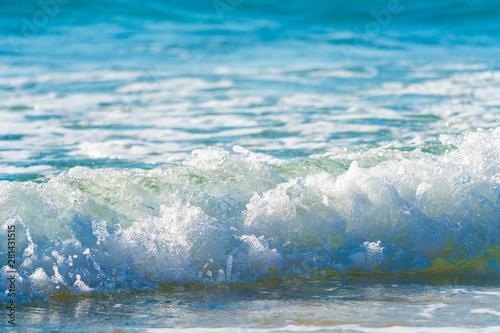 Foto auf Gartenposter Wasser Sea surf on a sandy beach Canary Islands