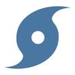 canvas print picture - Hurricane symbol icon