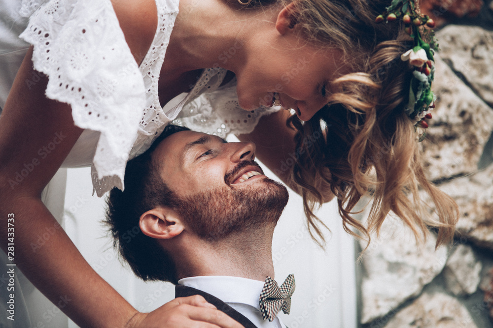 Fototapeta Beautiful wedding couple