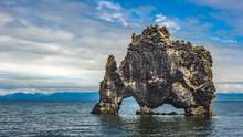 Hvitserkur Rock Formation In Hunafjordur Fjord, Iceland
