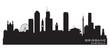 Brisbane Australia city skyline vector silhouette