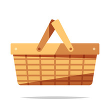 Picnic Basket Vector Isolated ...