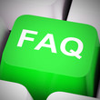 Leinwandbild Motiv Faq symbol icon means answering questions to help support users or staff - 3d illustration