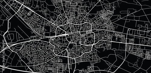 Photo Urban vector city map of Enschede, The Netherlands