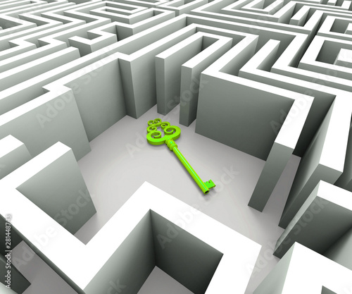 Fototapeta Securing the maze means safekeeping or guaranteed security - 3d illustration obraz