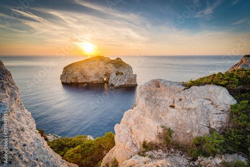 Fotobehang Mediterraans Europa Foradada Island in Sardinia, Italy.