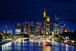 Frankfurt skyline by night