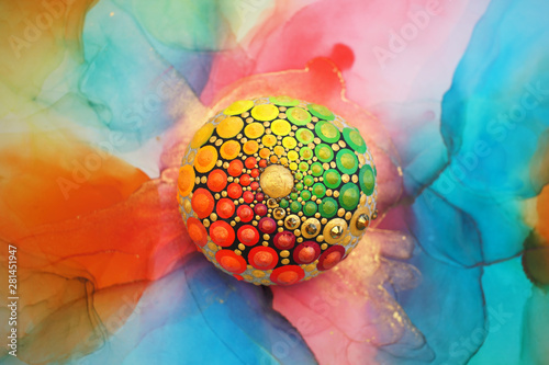 Beautiful mandala rock Wallpaper Mural