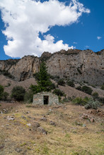 Ruins Of The Abandoned Bayhorse Ghost Town In The Salmon Challis National Forest Of Idaho