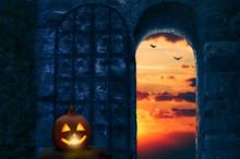 Eingang Zur Halloween Feier