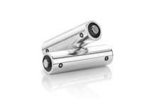 Metallic Alkaline Batteries AA-size Isolated On White Background