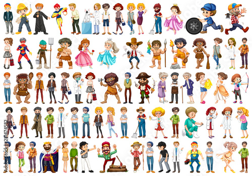 set of simple characters