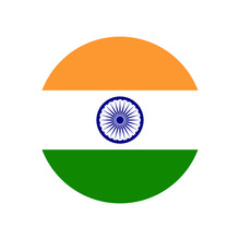 Republic Of India. National Flag, Round. Abstract Concept, Icon.