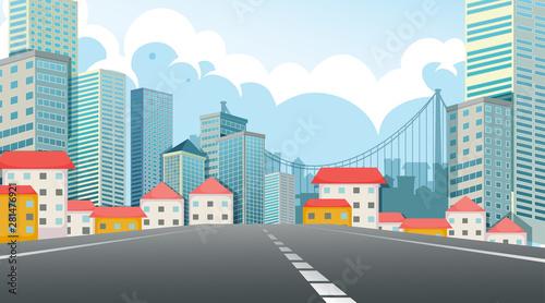 Foto op Plexiglas Kids Street view city scene