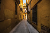 Fototapeta Uliczki - Narrow street in the old town in Valencia, Spain