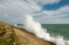 Waves Breaking On The Shore At Eastney Point