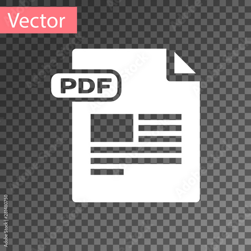 White Pdf File Document Download Pdf Button Icon Isolated On