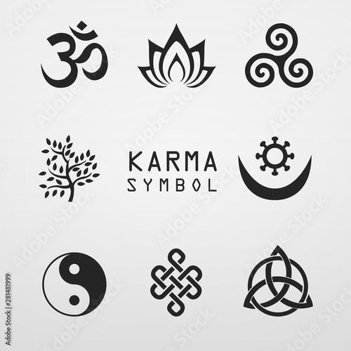 Fotografía  karma symbol lotus  buddhist icon
