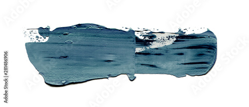 Abstract acrylic color brush stroke. Isolated.