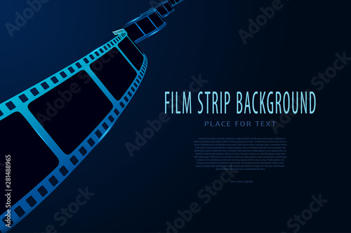 Photo Modern style international movie festival poster template