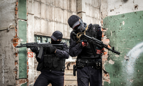 Russian special forces. Two soldier Canvas