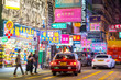 Neon lights in Mong Kok area, Hong Kong