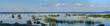 canvas print picture - Large-format, summer panorama of the Gulf of Finland
